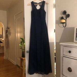 Dresses & Skirts - Lace Navy blue maxi dress